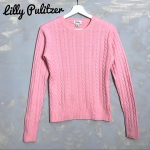 Lilly Pulitzer Cashmere Sweater Crew Cable Knit
